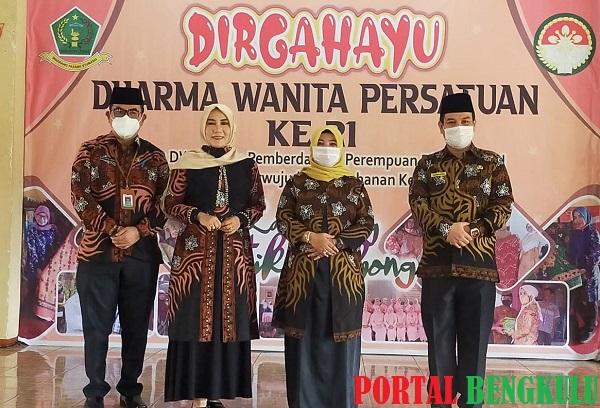 Puncak Peringatan Hut Dwp Lebong Launching Batik Telebong Portal Bengkulu